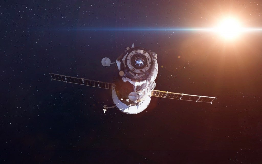 Spacecraft Soyuz orbiting the earth