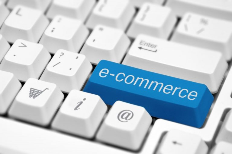 e-commerce tab on a keyboard