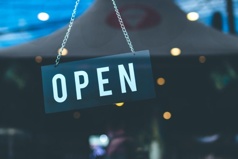 open signage of a business