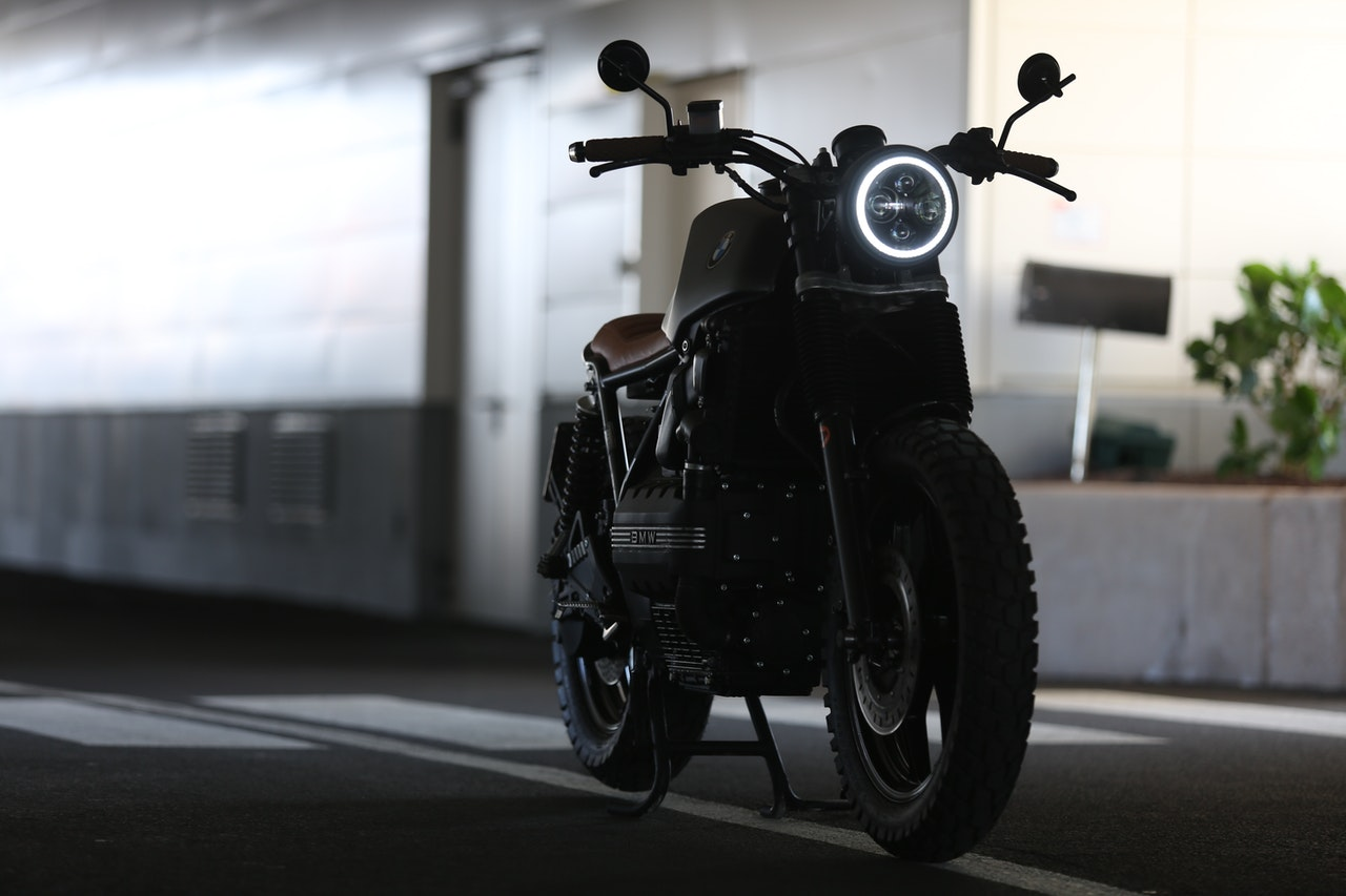 motorcycle with LED Daytime Running Lights