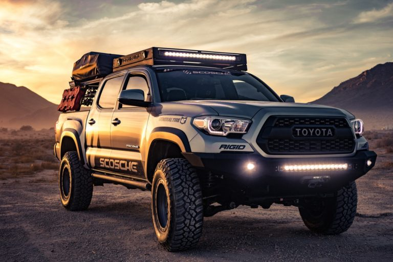 Toyota Pickup Truck with LED Daytime Running Lights