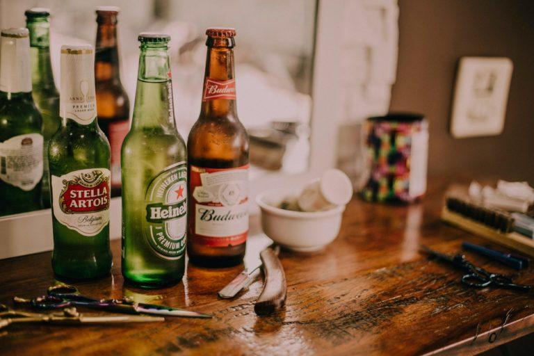 three different beer brands