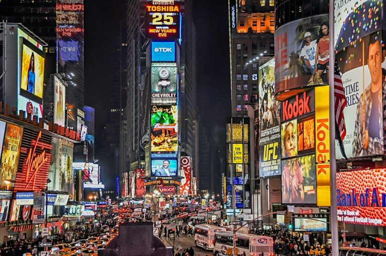 time square advertising and billboards