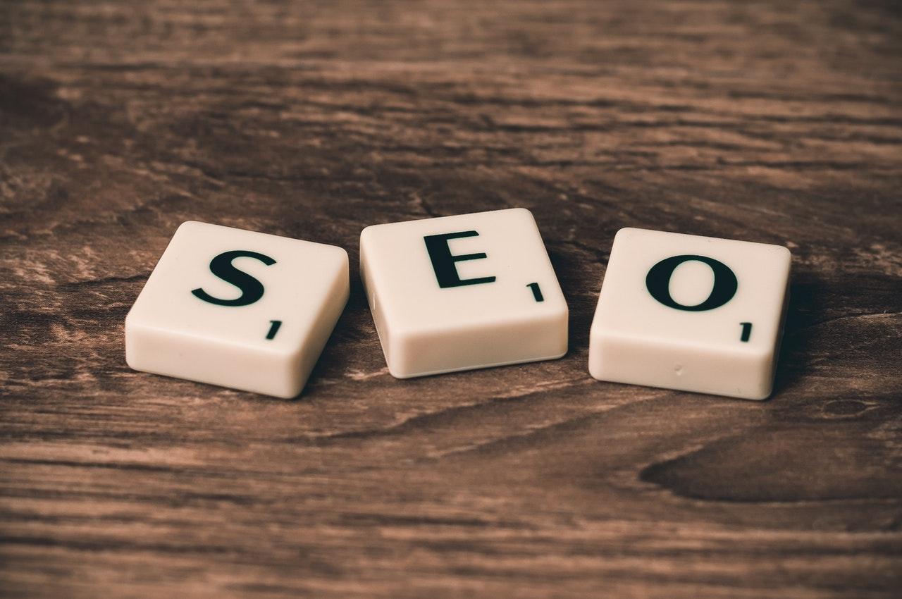 search engine optimization seo letter tiles