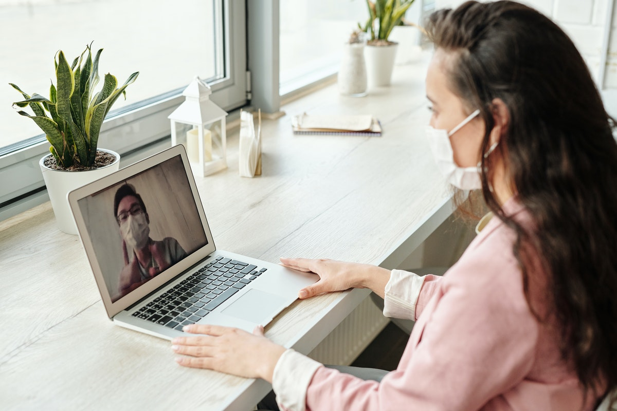 on a video call