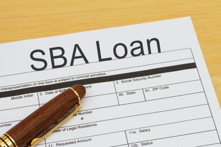 SBA Loan application form